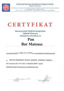 zabezpieczenia czynne certyfikat 53