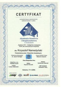 zabezpieczenia czynne certyfikat 55