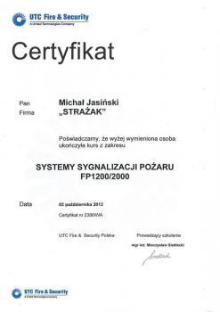 zabezpieczenia czynne certyfikat 57