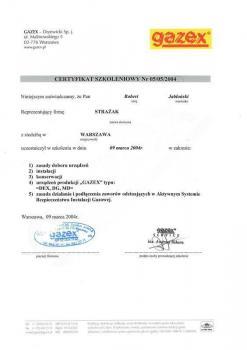 zabezpieczenia czynne certyfikat 60