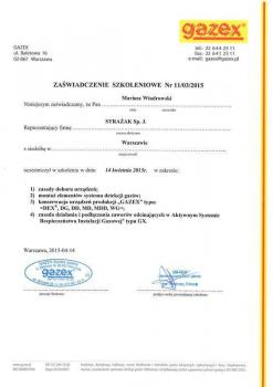zabezpieczenia czynne certyfikat 61