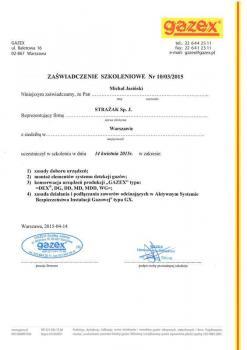 zabezpieczenia czynne certyfikat 63