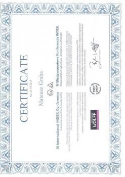 zabezpieczenia czynne certyfikat 64