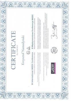 zabezpieczenia czynne certyfikat 65