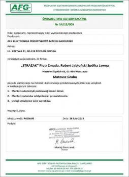 zabezpieczenia czynne certyfikat 7