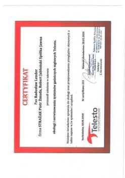 zabezpieczenia czynne certyfikat 70