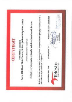 zabezpieczenia czynne certyfikat 71