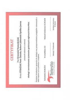 zabezpieczenia czynne certyfikat 72