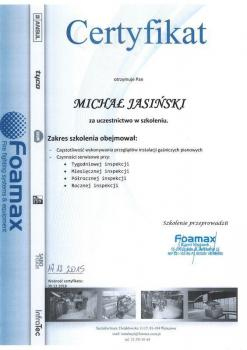 zabezpieczenia czynne certyfikat 83