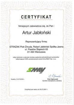 zabezpieczenia czynne certyfikat 91
