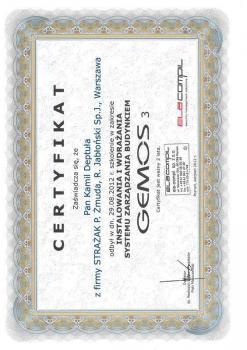 zabezpieczenia czynne certyfikat 93