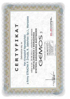zabezpieczenia czynne certyfikat 94