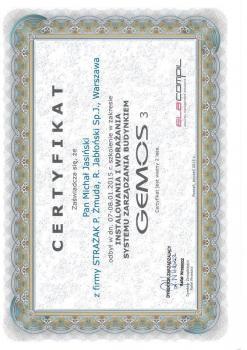 zabezpieczenia czynne certyfikat 95