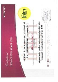 zabezpieczenia czynne certyfikat 97