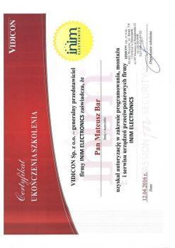 zabezpieczenia czynne certyfikat 98