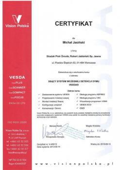 zabezpieczenia czynne certyfikat 99