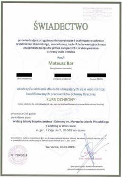 zabezpieczenia przeciwpożarowe -  inne certyfikaty 1