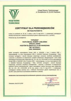 zabezpieczenia przeciwpożarowe -  inne certyfikaty 4