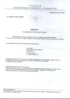 zabezpieczenia przeciwpożarowe -  inne certyfikaty 6