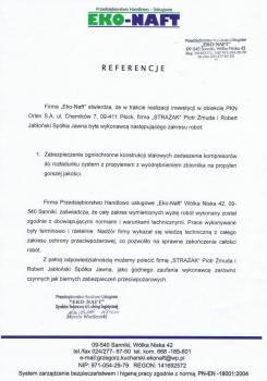 zabezpieczenia przeciwpożarowe - referencje 100