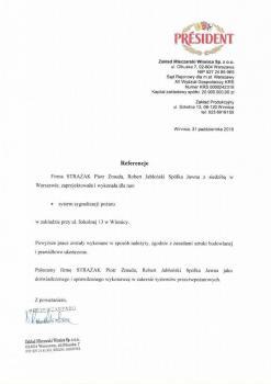zabezpieczenia przeciwpożarowe - referencje 3