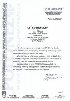 zabezpieczenia przeciwpożarowe - referencje 64