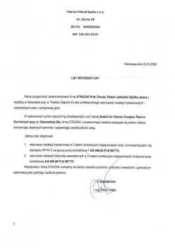 zabezpieczenia przeciwpożarowe - referencje 67