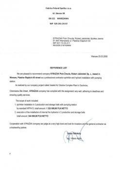 zabezpieczenia przeciwpożarowe - referencje 68