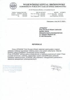 zabezpieczenia przeciwpożarowe - referencje 76