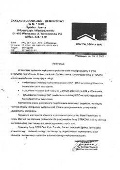 zabezpieczenia przeciwpożarowe - referencje 80