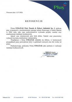 zabezpieczenia przeciwpożarowe - referencje 82